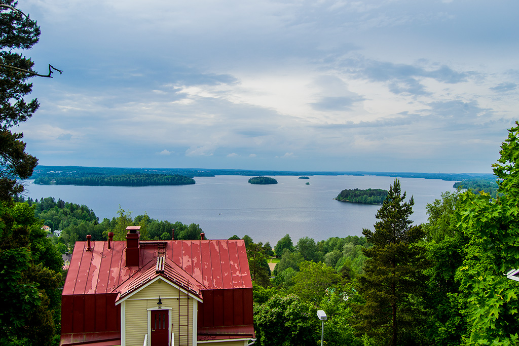 Vista de Pispala, donde se ve Nokia a lo lejos.