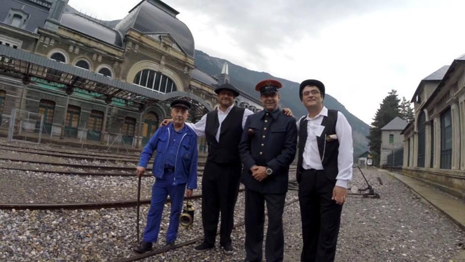 Protagonistas de la Recreación Inauguración Estación de Canfranc