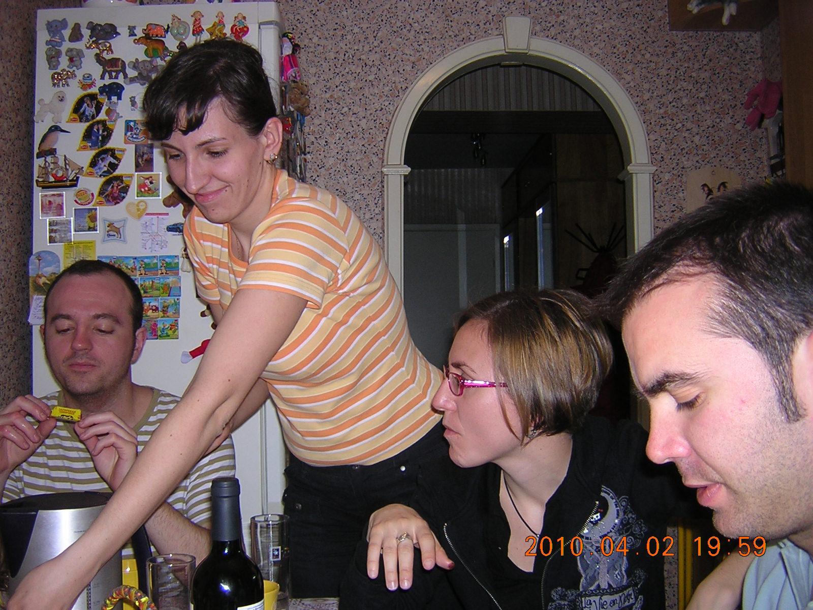 casa de María cenando